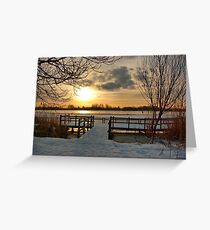 Wintermorning near the lake Greeting Card
