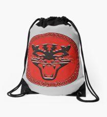 Leopard Army Drawstring Bag