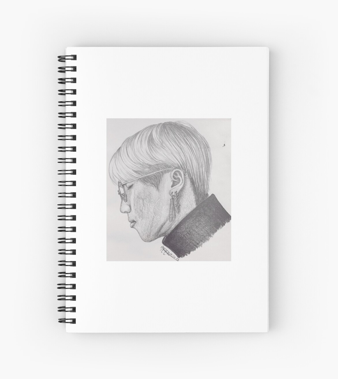 'Stray Kids - Han Jisung side profile fanart' Spiral Notebook by  DerDieDasAnna