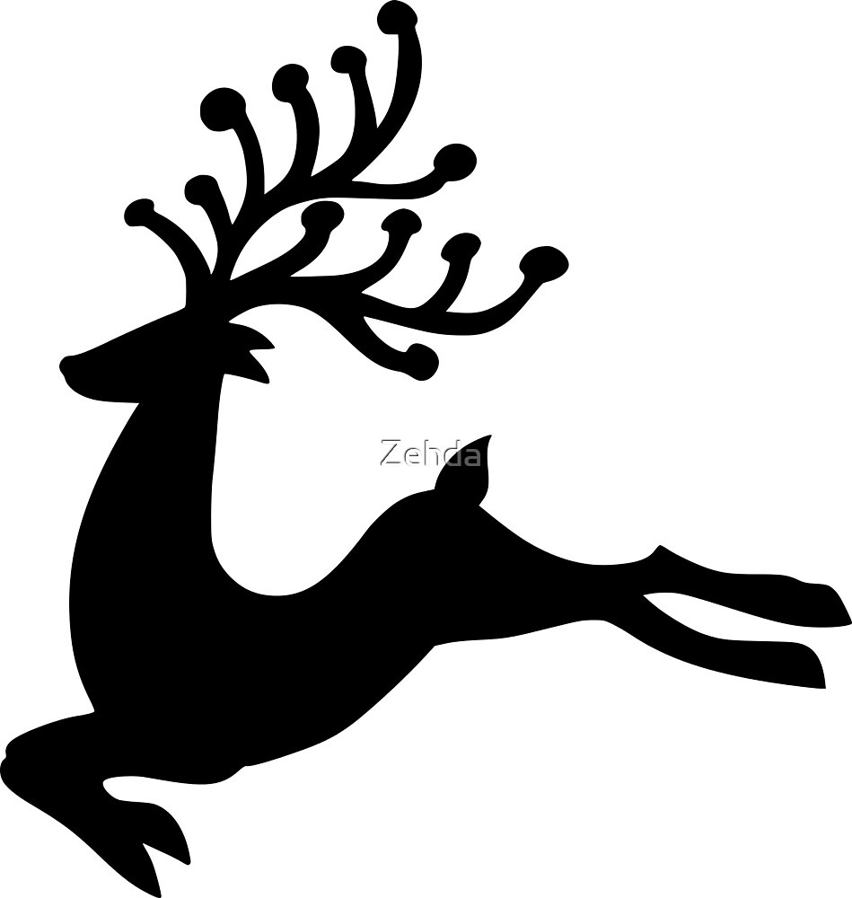 Leaping Fallow Deer With Antlers by Zehda