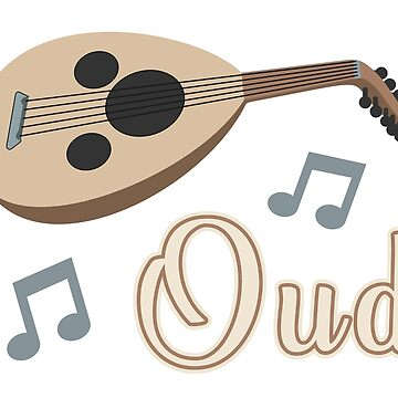 Lute or Oud Instrument, Classic Retro Vintage Musical Instrument Oud, For Music and Traditional Music Lovers  by Jurzai