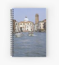 Boats on the canal Spiral Notebook