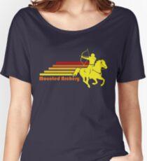 Berittenes Bogenschießen Retro Reiterpferd | NickerStickers auf Redbubble Loose Fit T-Shirt