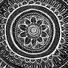 Schwarze Blumenmandala von inkedinred