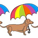 Rainy Day Dachshunds by DougPop