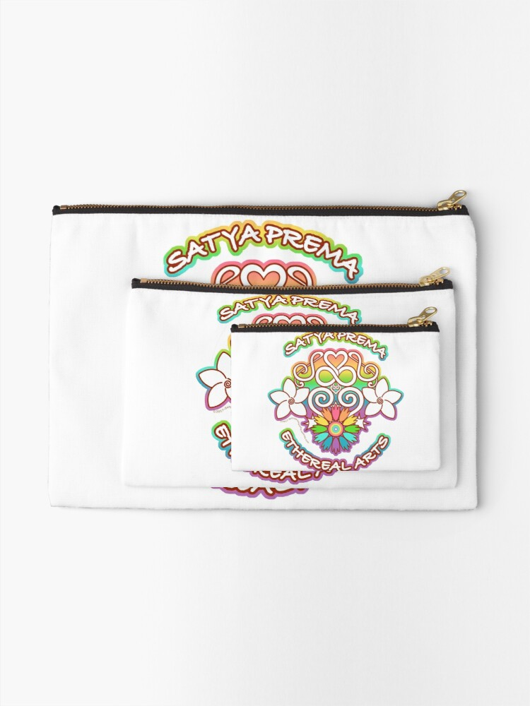 Alternate view of Satya Prema Ethereal Arts Emblem Zipper Pouch