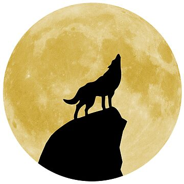 Wolf Howling at the Moon by rontrickett