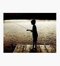 Boy Fishing Photographic Print