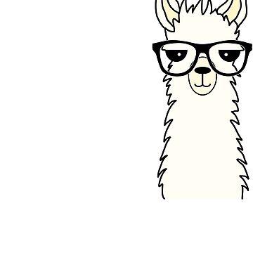 Funny Alpaca Llama I have to many Books by Mmastert