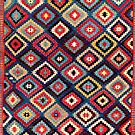 Talish  Antique Moghan South East Caucasus Kilim  by Vicky Brago-Mitchell