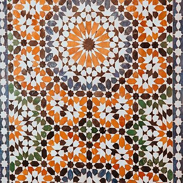 Boho Moroccan Tile Pattern  by Zehda