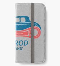 Hot Rod Mechanic iPhone Flip-Case/Hülle/Klebefolie