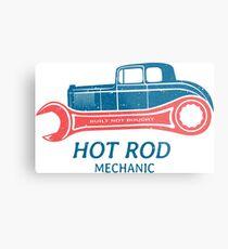 Hot Rod Mechanic Metallbild