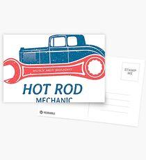 Hot Rod Mechanic Postkarten