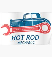 Hot Rod Mechanic Poster