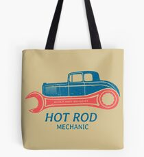 Hot Rod Mechanic Tote Bag