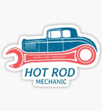 Hot Rod Mechanic Sticker