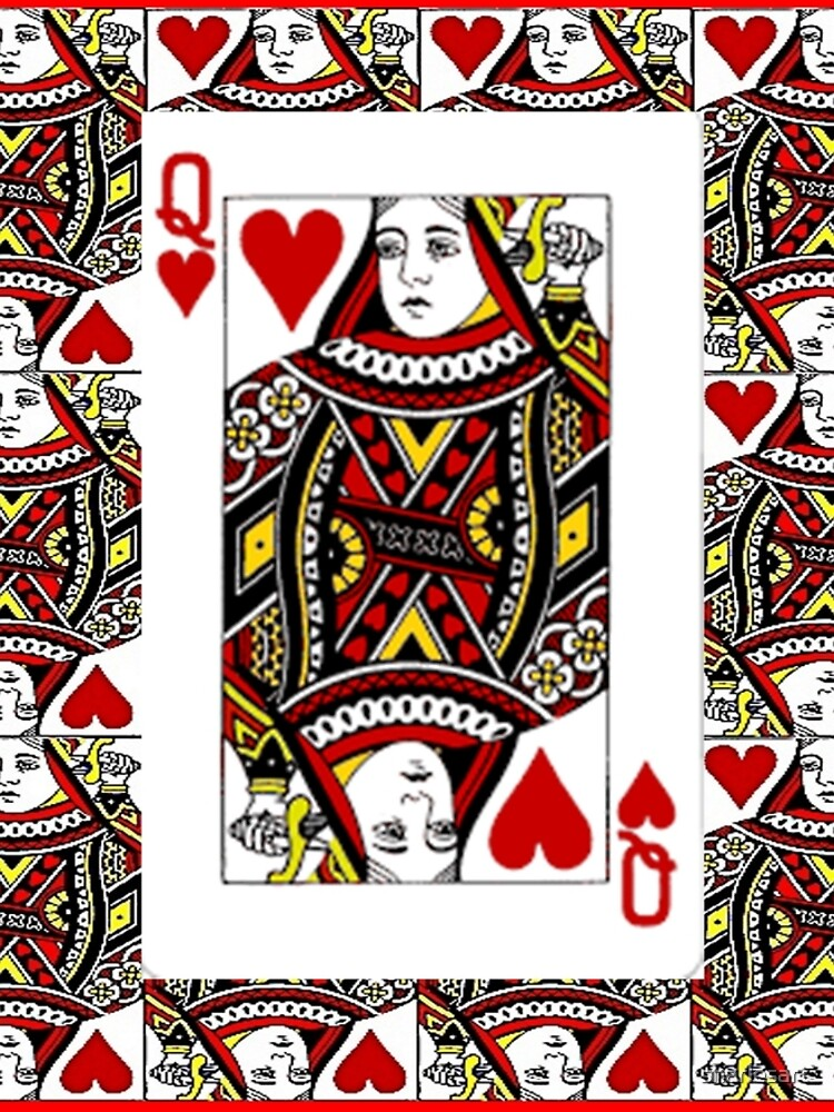 QUEEN OF HEARTS PLAYING CARDS ARTWORK  by sharlesart