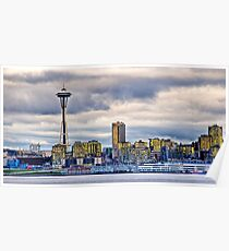 Seattle Washington space needle in HDR Poster