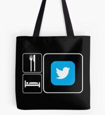 Food Sleep Twitter Tote Bag