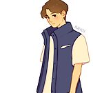 Jungkook blue vest by peachlii