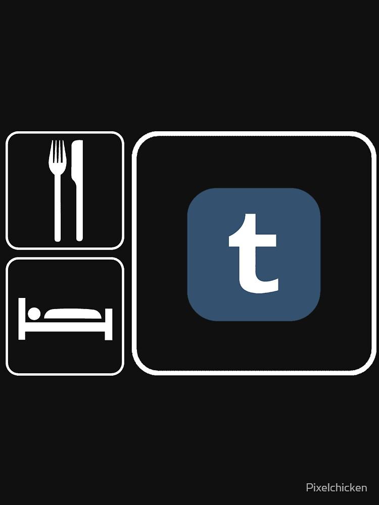 Food Sleep Tumblr by Pixelchicken