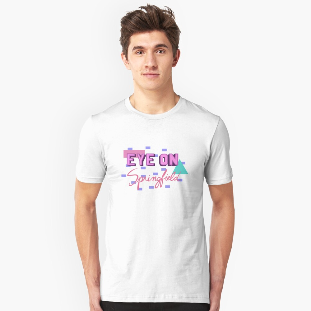 Auge auf Springfield Die Simpsons Kent Brockman Slim Fit T-Shirt