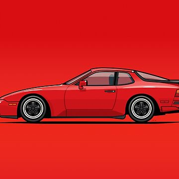 India Red 1986 P 944 951 Turbo (US spec) by monkeycom