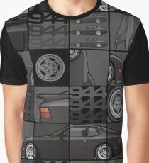 Black 1986 P 944 951 Turbo (US spec) Graphic T-Shirt