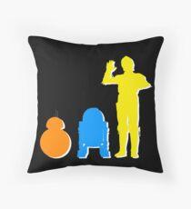Droids Throw Pillow