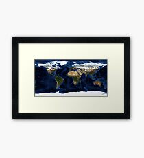 Map Of The World - A view of the Earth Framed Print