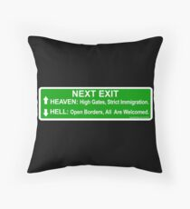 Next Exit Throw Pillow
