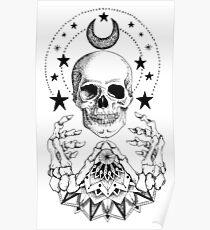 Macht-Schädel-Mandala Poster