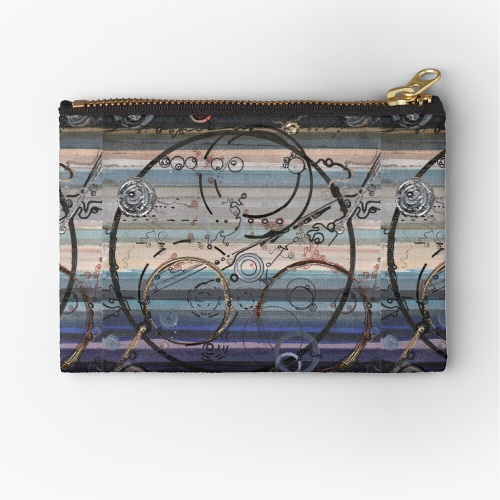 Space race ink on paper Zipper Pouch