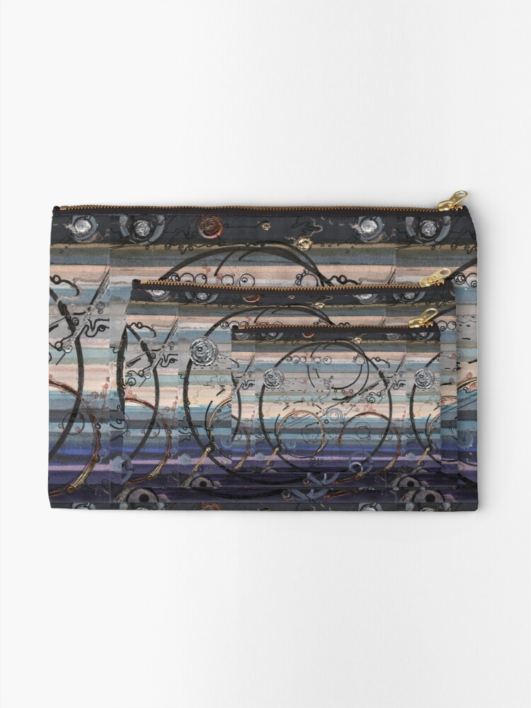 Alternate view of Space race ink on paper Zipper Pouch
