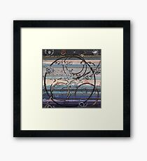 Space race ink on paper Framed Print