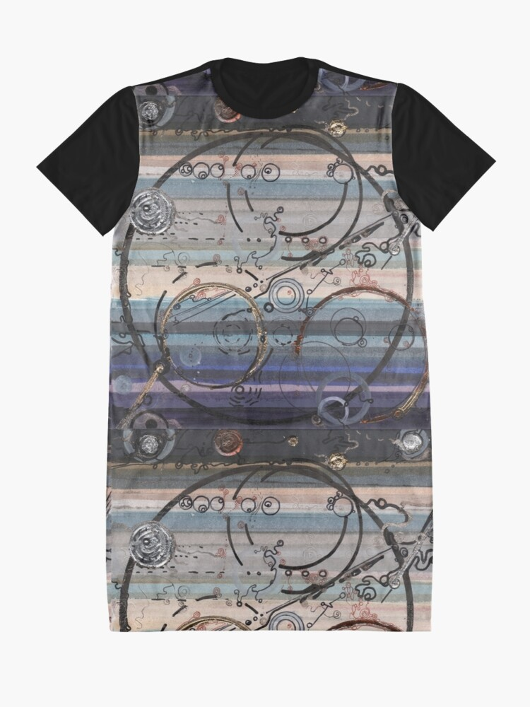 Alternate view of Space race ink on paper Graphic T-Shirt Dress