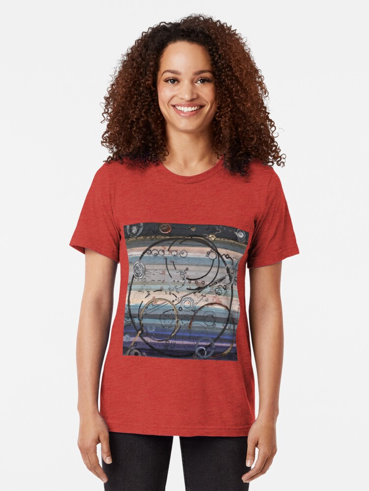 Alternate view of Space race ink on paper Tri-blend T-Shirt