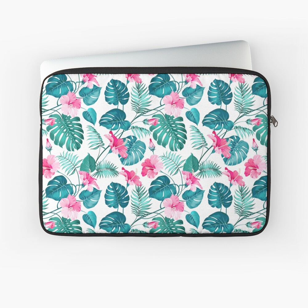 Kleine rosa Hibiskusblüten Laptoptasche