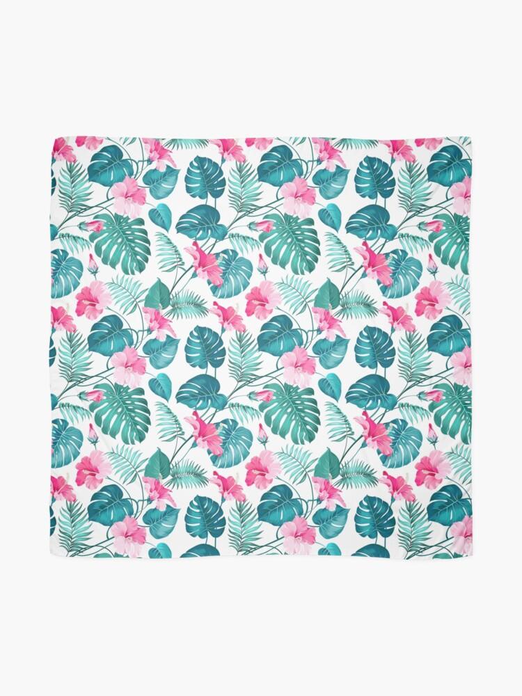 Alternative Ansicht von Kleine rosa Hibiskusblüten Tuch