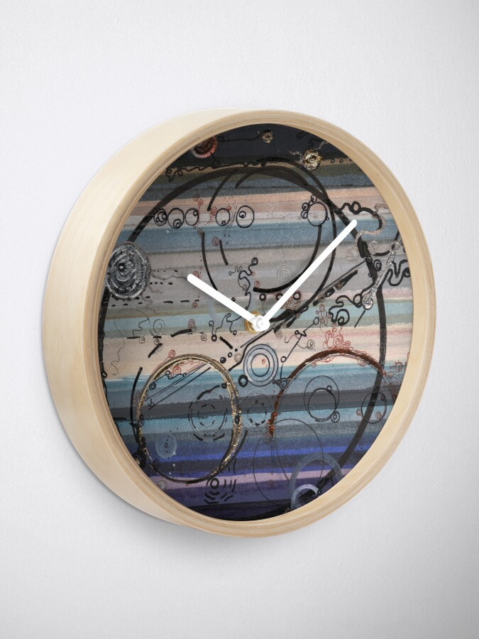 Alternate view of Space race ink on paper Clock