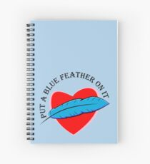 Blue Feather Love Spiral Notebook