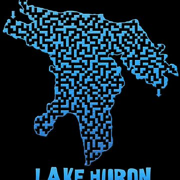 Lake Huron Outline Maze & Labyrinth by gorff