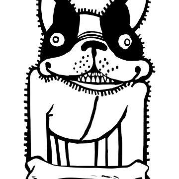Street Art Psycho Dog Graffiti by natbern