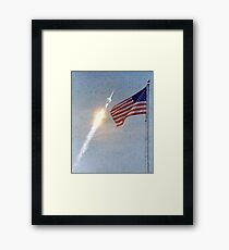 Lift Off - Apollo 11 Artwork / Digital Painting Framed Print