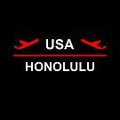 Honolulu Hawaii USA Airport Plane Dark Color by TinyStarAmerica