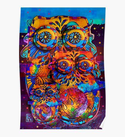 Radiant Owls  Poster