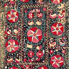 Shakhrisyabz Suzani Antique South West Uzbekistan Embroidery by Vicky Brago-Mitchell