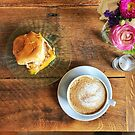 Coffee and Breakfast with Flowers by carlacardello