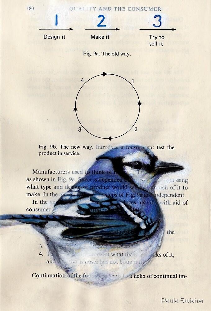 Blue Jay Circle 123 by Paula Swisher